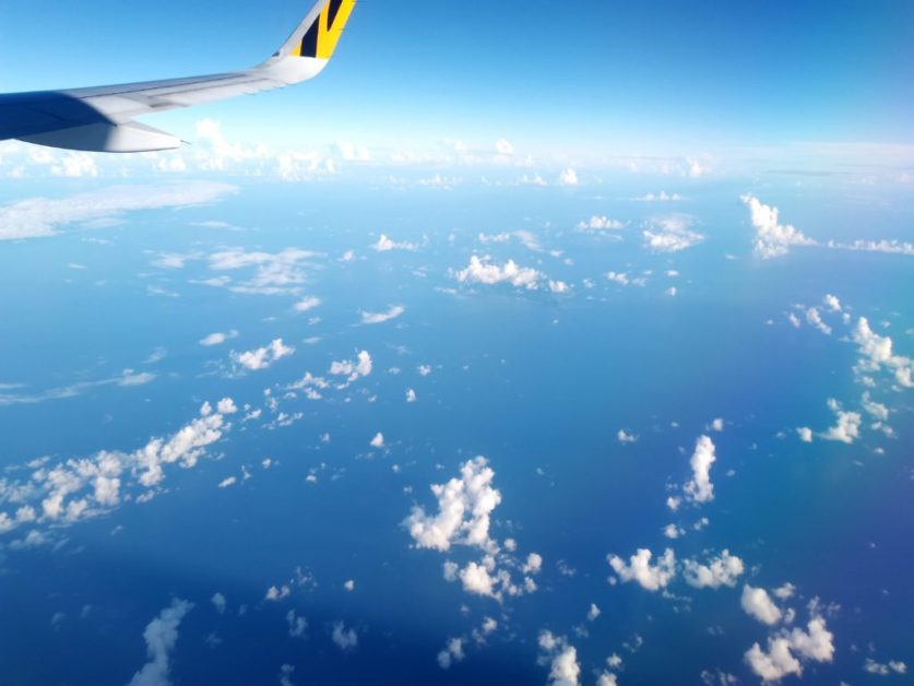 Flying to Okinawa from Taiwan